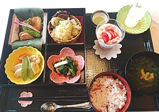 食事一例(お花見弁当)